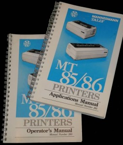 Mannesmann Tally Printer Manual